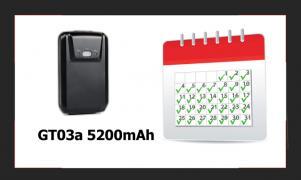 Автономный GPS трекер GT03a IP65, 5 магнитов, 5200mAh